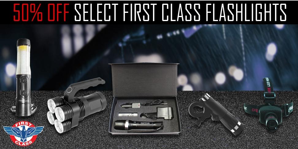 50% Off Select First Class Flashlights