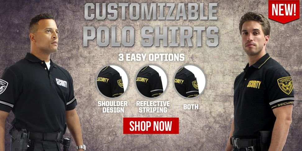 Customizable Security Polo Shirts