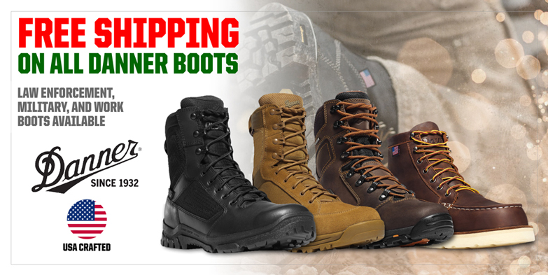 Free Shipping on all Danner Boots