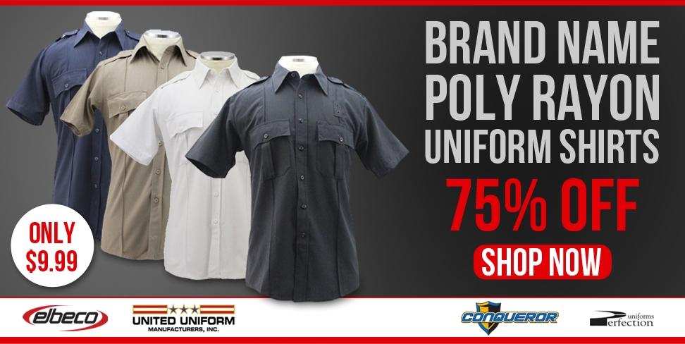 Brand Name Poly Rayon Shirts