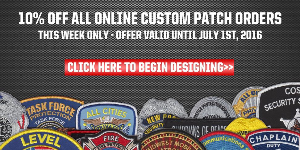 Ten Percent Off Custom Patch Orders