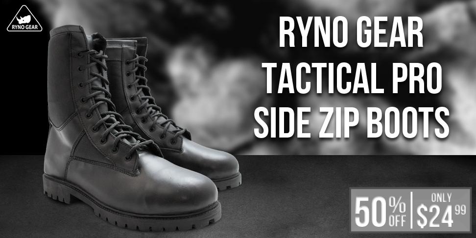 Ryno Gear Tactical Pro Zipper Boots
