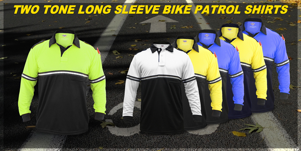 Two Tone Long Sleeve Bike Patrol Shirts