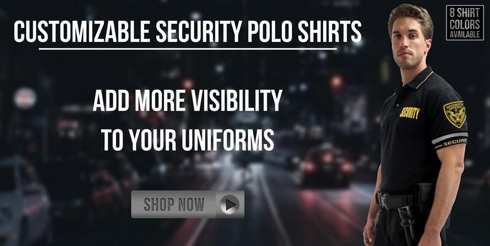 Customizable Security Polo Shirts