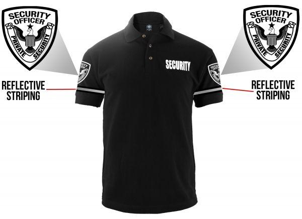 Customizable Poly Cotton Security Polo Shirt