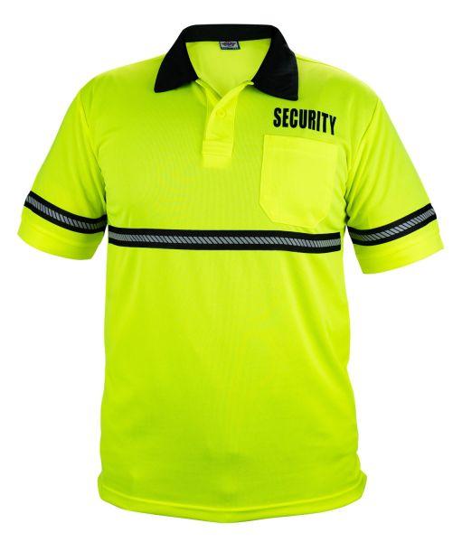 REFLECTIVE HIGH VISIBILITY SECURITY POLO SHIRT HI VIS VIZ SAFETY PIQUET