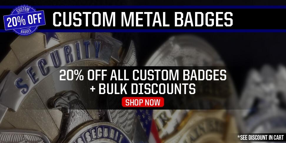 20% Off Custom Badges