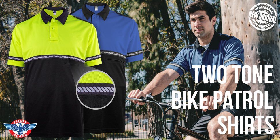 New Two Tone Bike Patrol Shirts with Hashed Stripes