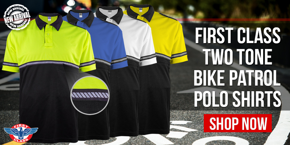 New Two Tone Bike Patrol Hash Reflective Stripe Polo Shirts