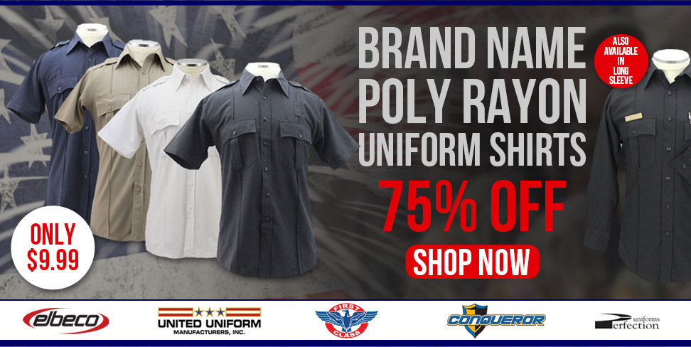 Brand Name Poly Rayon Uniform Shirts