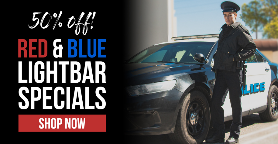 50% Off Red and Blue Lightbars