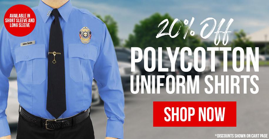 20% Off Polycotton Uniform Shirts