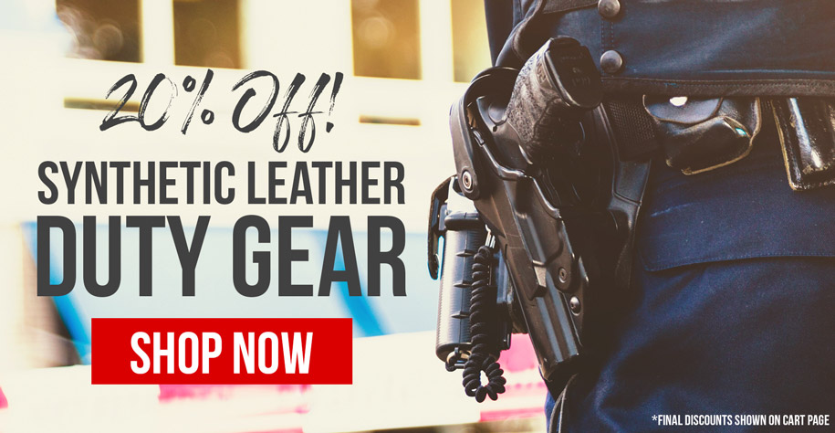 20% Off Synthetic Leather Duty Gear